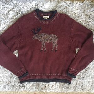 Christopher & Banks Ugly Christmas Deer Sweater